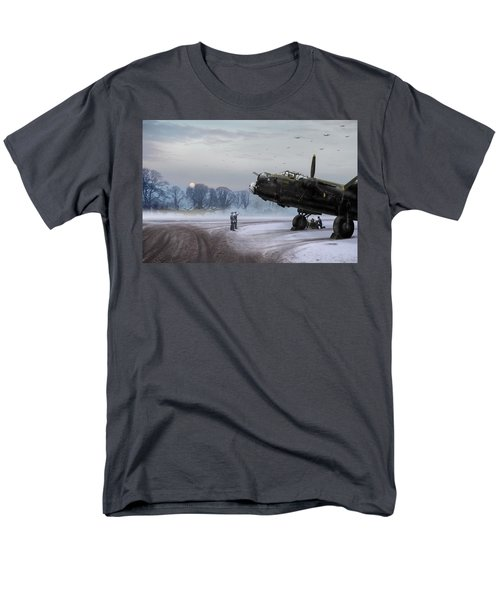 Men's T-Shirt  (Regular Fit) featuring the photograph Time To Go - Lancasters On Dispersal by Gary Eason