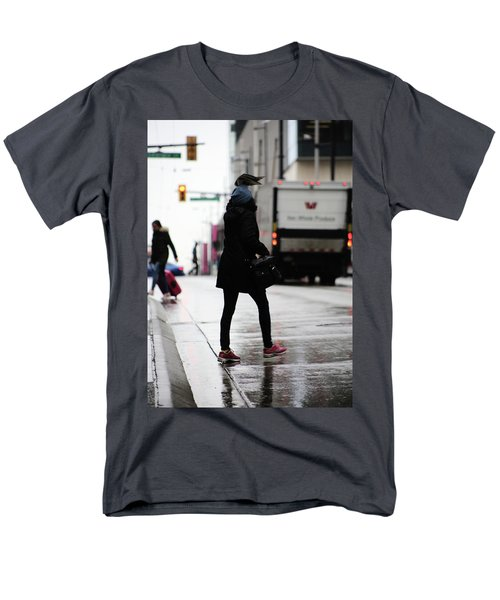 Men's T-Shirt  (Regular Fit) featuring the photograph Tiny Umbrella  by Empty Wall