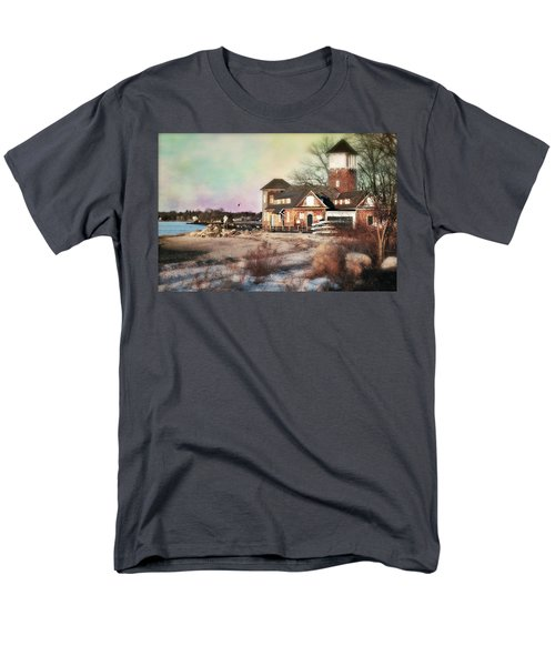 Tod's Point Beach House Men's T-Shirt  (Regular Fit) by Diana Angstadt