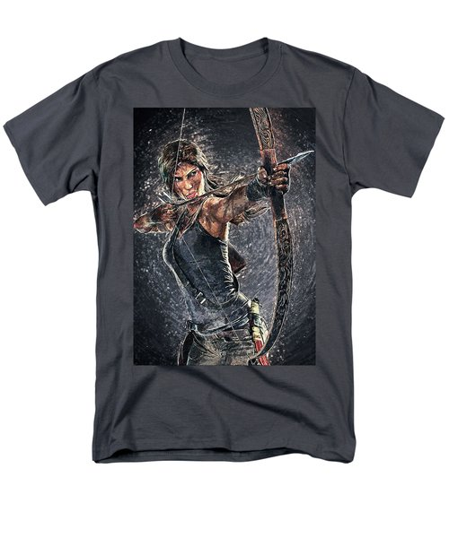 Men's T-Shirt  (Regular Fit) featuring the digital art Tomb Raider by Taylan Apukovska