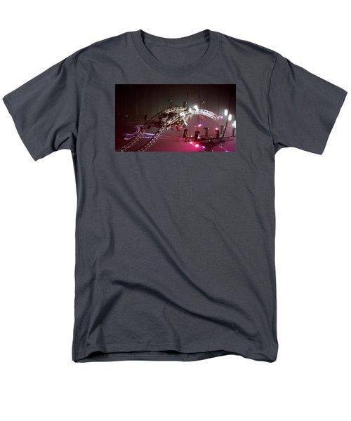 Tommy Lee Motley Crue Farewell Tour Brooklyn N Y 2015 Or Flying Drums Men's T-Shirt  (Regular Fit)