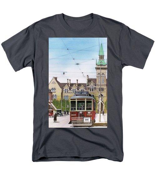 Men's T-Shirt  (Regular Fit) featuring the painting Toronto Belt Line by Kenneth M Kirsch