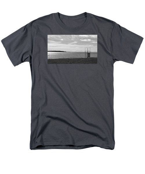 Men's T-Shirt  (Regular Fit) featuring the photograph Toronto Winter Beach by Valentino Visentini