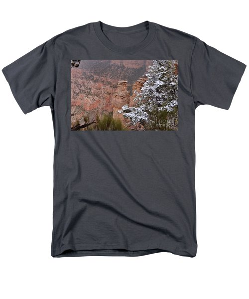 Towers In The Snow Men's T-Shirt  (Regular Fit) by Debby Pueschel