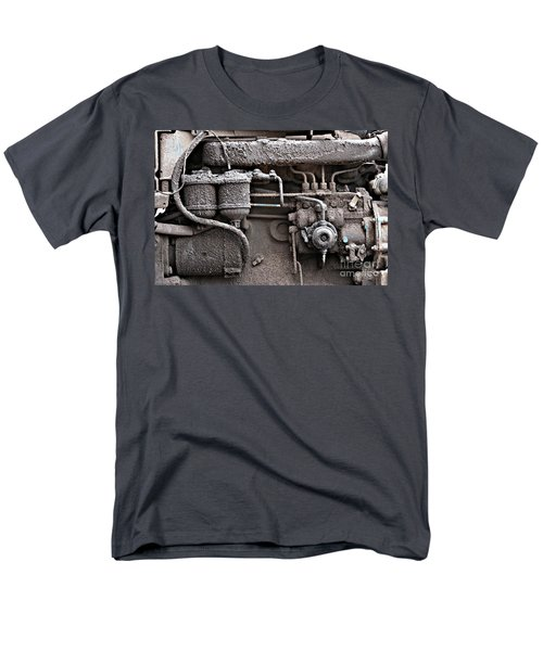 Men's T-Shirt  (Regular Fit) featuring the photograph Tractor Engine II by Stephen Mitchell