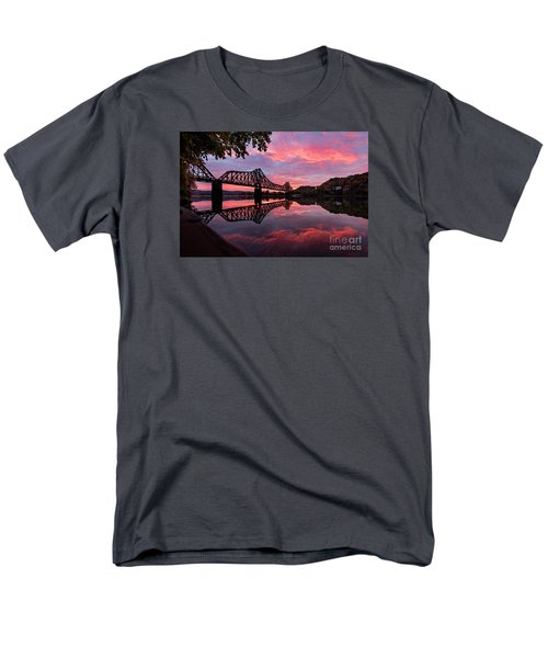 Train Bridge At Sunrise  Men's T-Shirt  (Regular Fit) by Emmanuel Panagiotakis