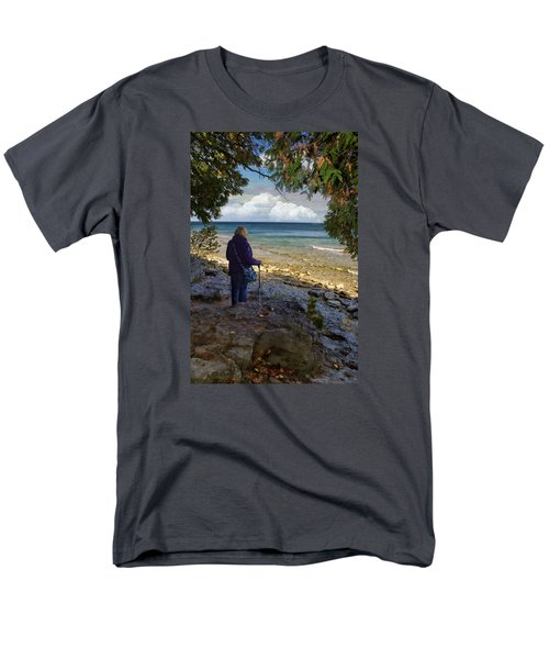 Men's T-Shirt  (Regular Fit) featuring the photograph Tranquility by Judy Johnson