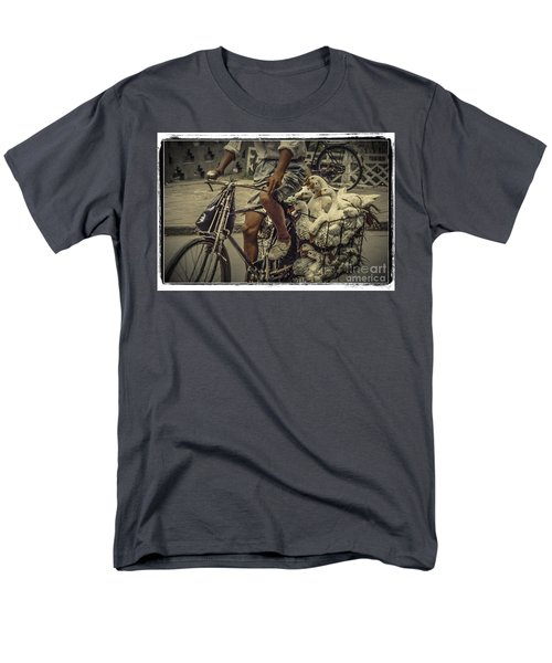 Men's T-Shirt  (Regular Fit) featuring the photograph Transport By Bicycle In China by Heiko Koehrer-Wagner