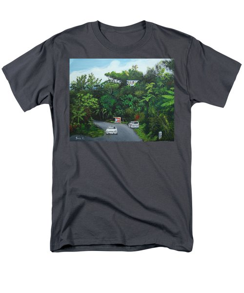 Traveling In Adjuntas Mountains Men's T-Shirt  (Regular Fit) by Luis F Rodriguez