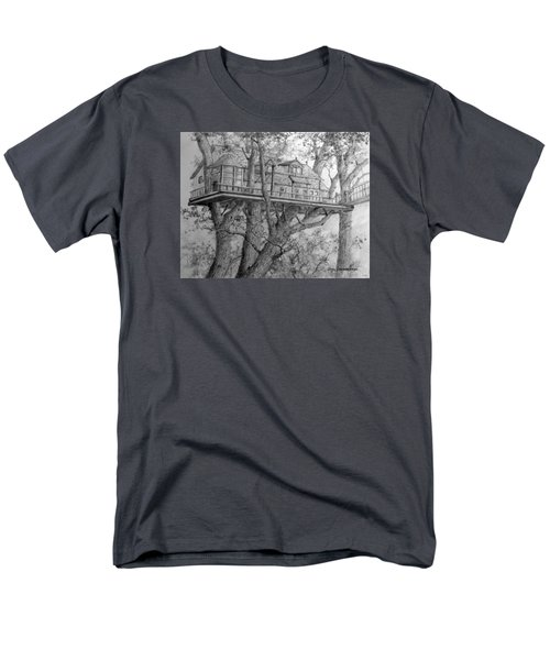 Men's T-Shirt  (Regular Fit) featuring the drawing Tree House #4 by Jim Hubbard
