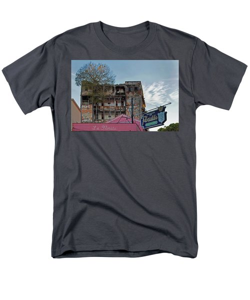 Men's T-Shirt  (Regular Fit) featuring the photograph Tree In Building Over La Floridita Havana Cuba by Charles Harden