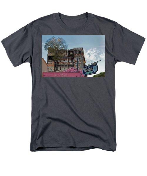 Tree In Building Over La Floridita Havana Cuba Men's T-Shirt  (Regular Fit) by Charles Harden