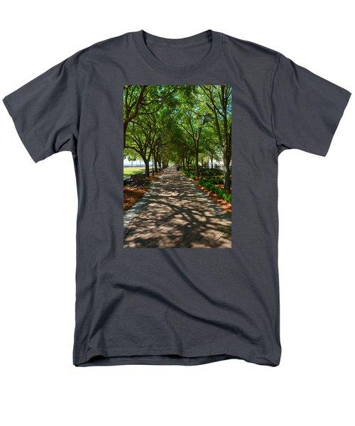 Tree Lined Path Men's T-Shirt  (Regular Fit) by Debra Martz