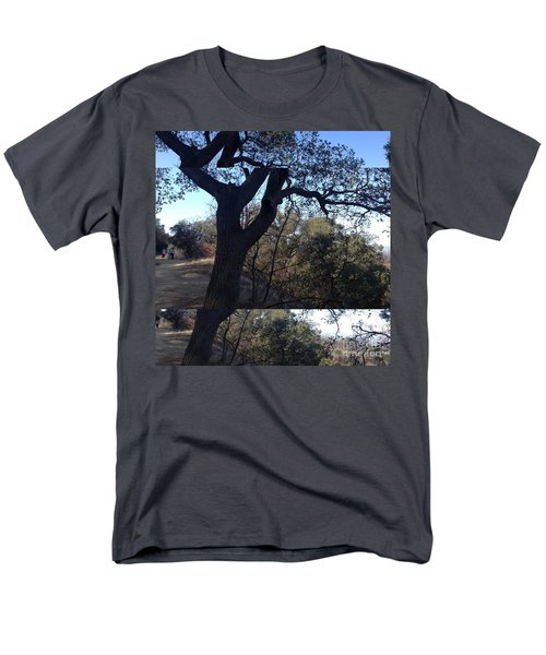 Tree Silhouette Collage Men's T-Shirt  (Regular Fit) by Nora Boghossian