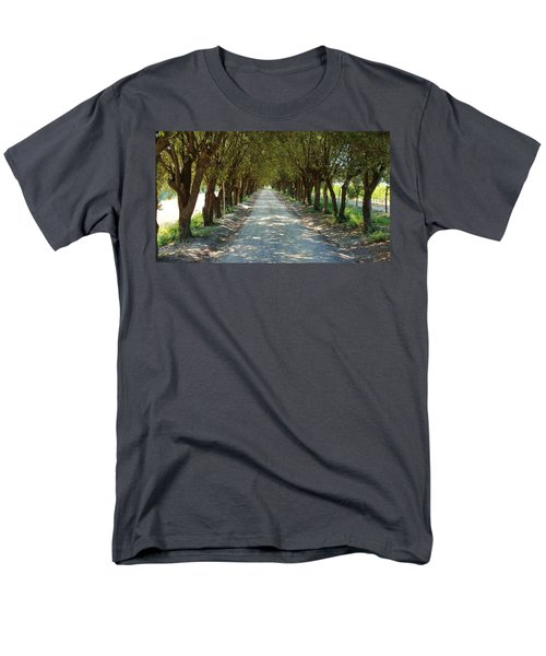 Men's T-Shirt  (Regular Fit) featuring the photograph Tree Tunnel by Valentino Visentini
