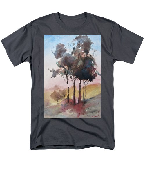 Men's T-Shirt  (Regular Fit) featuring the painting Trees by Geni Gorani