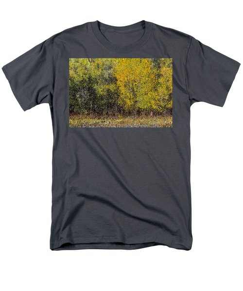 Trees In Fall With Texture Men's T-Shirt  (Regular Fit) by John Brink