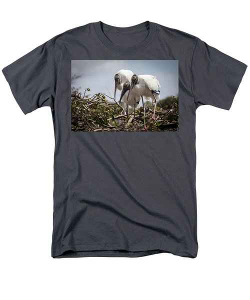 Trio Of Storks Men's T-Shirt  (Regular Fit) by Jim Gillen