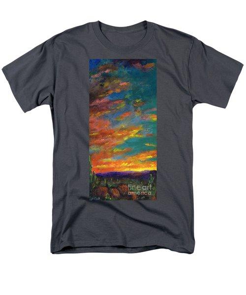 Triptych 1 Desert Sunset Men's T-Shirt  (Regular Fit) by Frances Marino