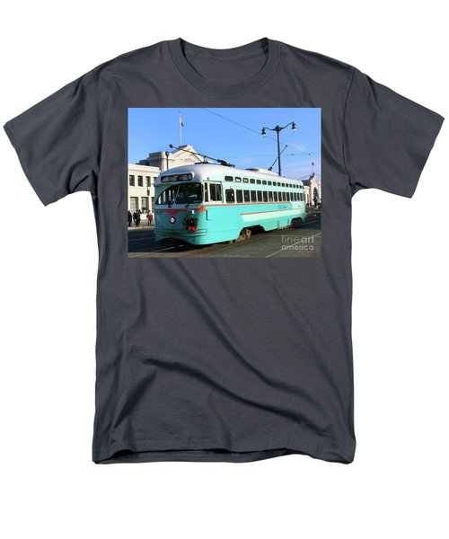 Men's T-Shirt  (Regular Fit) featuring the photograph Trolley Number 1076 by Steven Spak