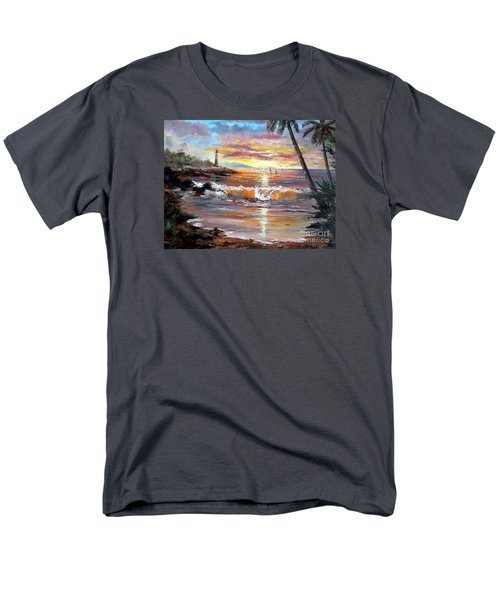 Tropical Sunset Men's T-Shirt  (Regular Fit) by Lee Piper