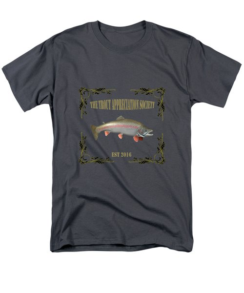 Trout Appreciation Society  Men's T-Shirt  (Regular Fit) by Rob Hawkins
