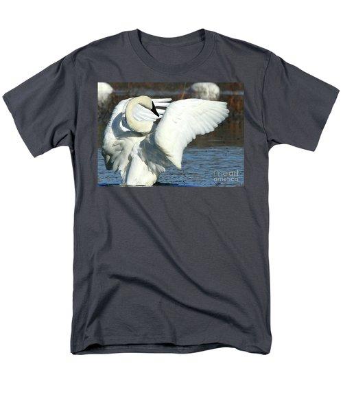 Trumpeter Swan Men's T-Shirt  (Regular Fit) by Paula Guttilla