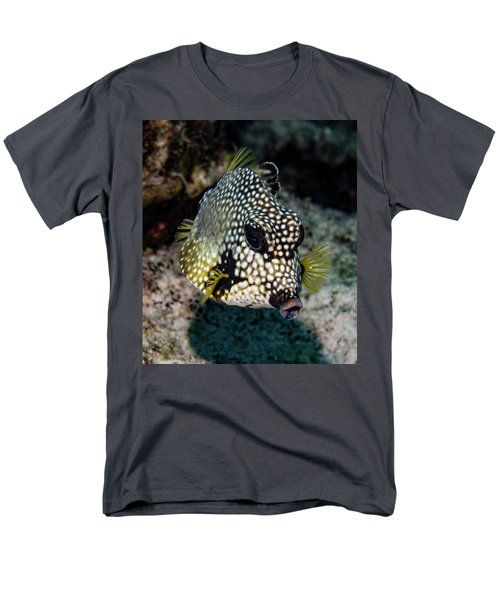 Men's T-Shirt  (Regular Fit) featuring the photograph Trunkfish Portrait by Jean Noren