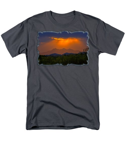 Tucson Mountains Sunset H29 Men's T-Shirt  (Regular Fit) by Mark Myhaver