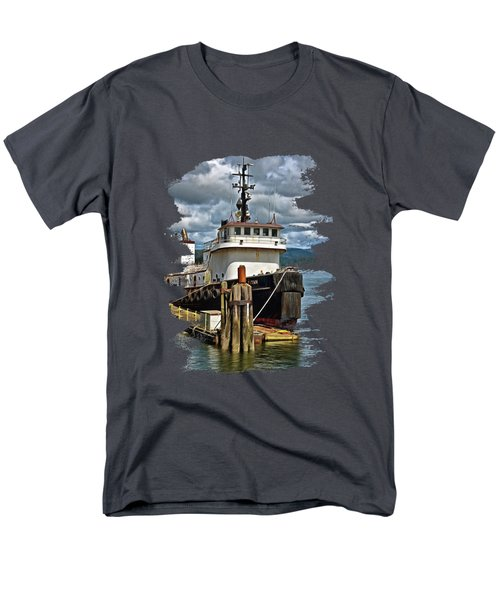 Tugboat Titan  Men's T-Shirt  (Regular Fit) by Thom Zehrfeld