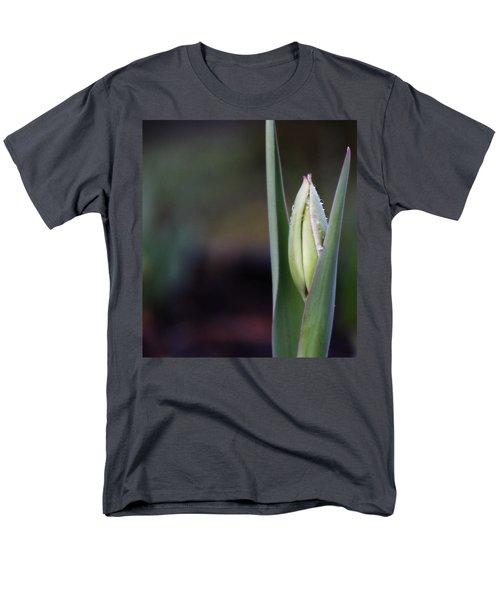 Tulip Bud Men's T-Shirt  (Regular Fit) by Katie Wing Vigil