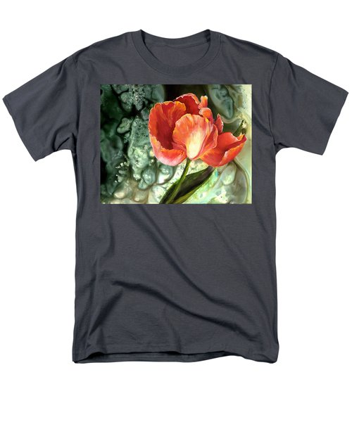 Men's T-Shirt  (Regular Fit) featuring the painting Tulip Dance by Sherry Shipley