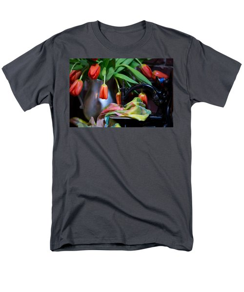 Men's T-Shirt  (Regular Fit) featuring the photograph Tulips by Sharon Jones