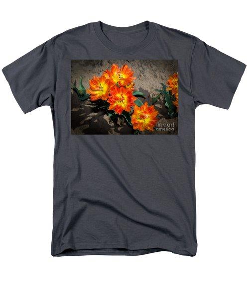 Tulips Soaking Up The Sun Men's T-Shirt  (Regular Fit) by John Roberts