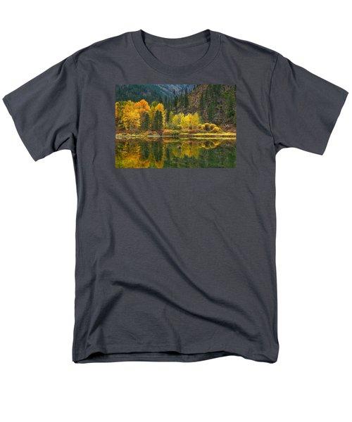 Tumwater Reflections Men's T-Shirt  (Regular Fit) by Lynn Hopwood