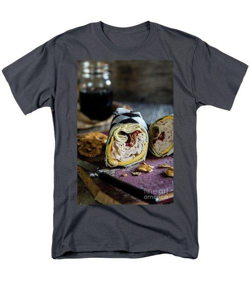 Men's T-Shirt  (Regular Fit) featuring the photograph Turkey Bacon Wrap 1 by Deborah Klubertanz