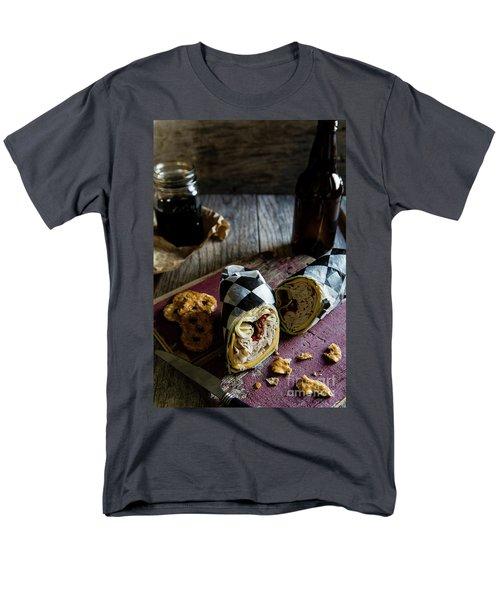 Men's T-Shirt  (Regular Fit) featuring the photograph Turkey Bacon Wrap 3 by Deborah Klubertanz