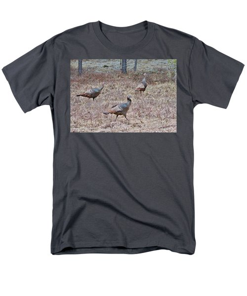 Men's T-Shirt  (Regular Fit) featuring the photograph Turkey Trio 1153 by Michael Peychich