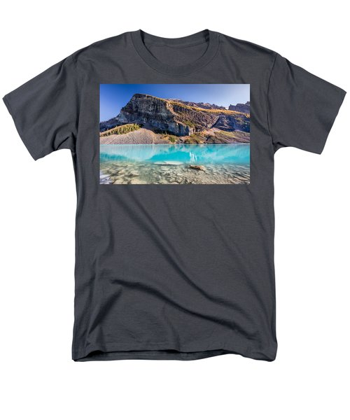 Turquoise Water Of The Scenic Lake Louise Men's T-Shirt  (Regular Fit) by Pierre Leclerc Photography