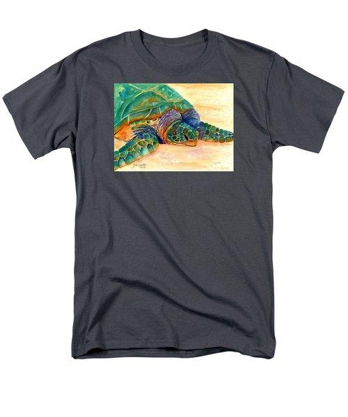Turtle At Poipu Beach 7 Men's T-Shirt  (Regular Fit) by Marionette Taboniar