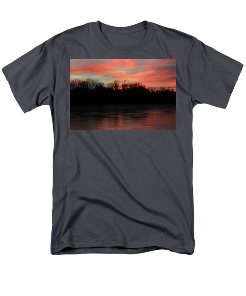 Men's T-Shirt  (Regular Fit) featuring the photograph Twilight On The River by Chris Berry