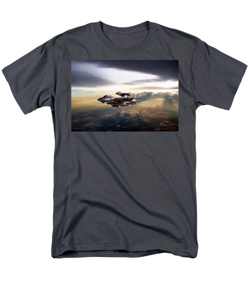 Men's T-Shirt  (Regular Fit) featuring the digital art Twilight's Last Gleaming by Peter Chilelli