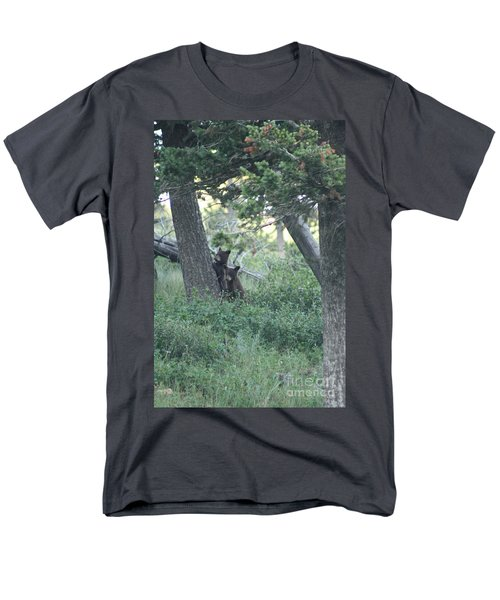 Two Bear Cubs Men's T-Shirt  (Regular Fit) by Mary Mikawoz