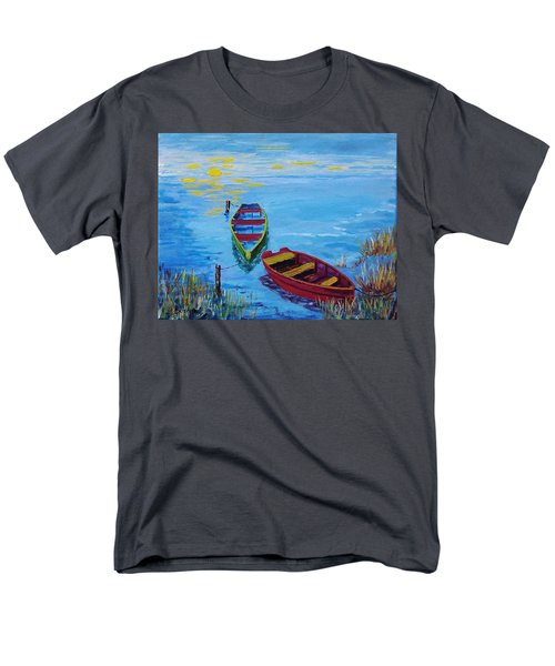 Two Boats Men's T-Shirt  (Regular Fit) by Mike Caitham