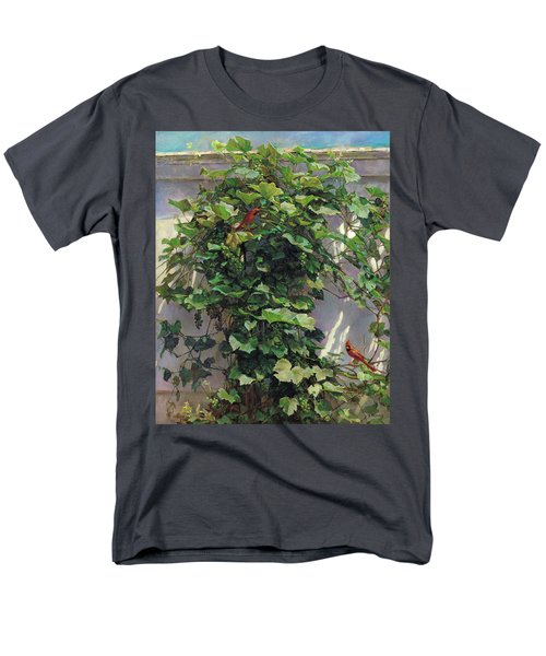 Two Cardinals On The Vine Tree Men's T-Shirt  (Regular Fit) by Svitozar Nenyuk