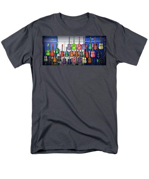 Men's T-Shirt  (Regular Fit) featuring the photograph Ukuleles At The Fair by Lori Seaman