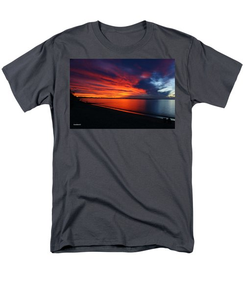 Men's T-Shirt  (Regular Fit) featuring the photograph Under The Blood Red Sky by Gary Crockett