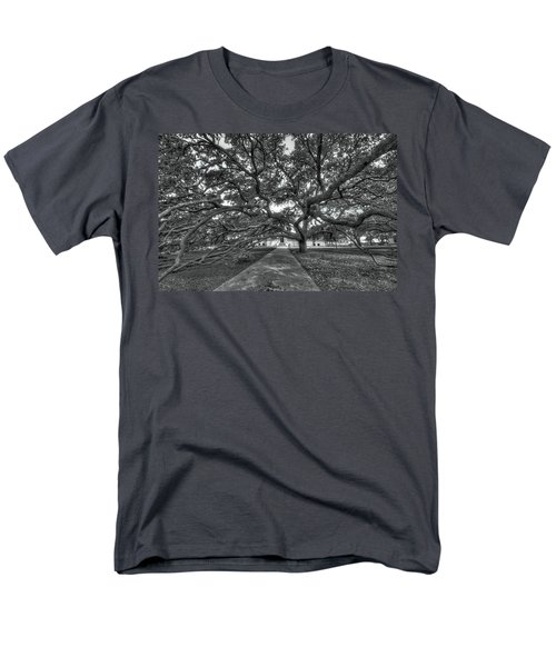 Under The Century Tree - Black And White Men's T-Shirt  (Regular Fit) by David Morefield