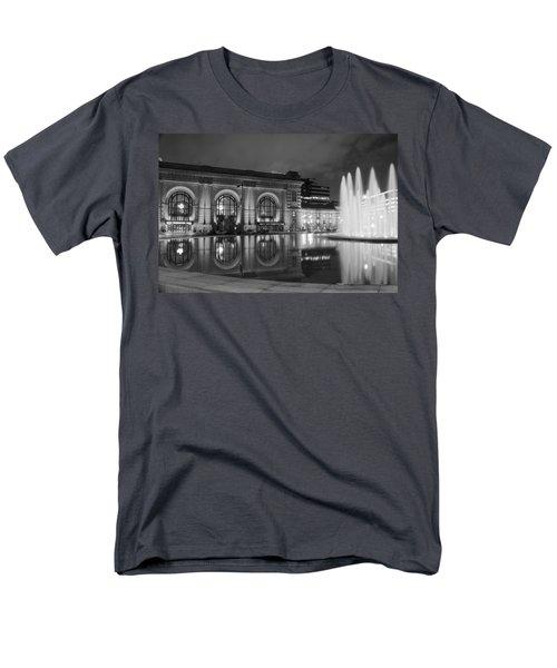 Union Station Reflections Men's T-Shirt  (Regular Fit) by Steven Bateson