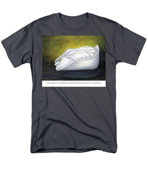 Men's T-Shirt  (Regular Fit) featuring the painting University Of Pennsylvania Hospital School Of Nursing by Marlyn Boyd
